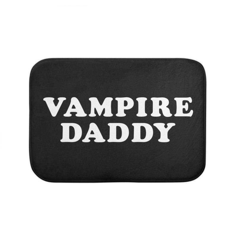 Vampire Daddy (wht) Ishii x Voidmerch Home Bath Mat by VOID MERCH