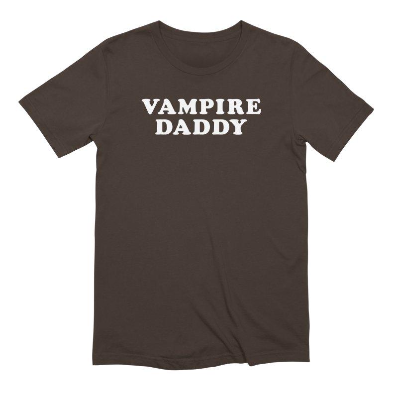 Vampire Daddy (wht) Ishii x Voidmerch in Men's Extra Soft T-Shirt Chocolate by VOID MERCH