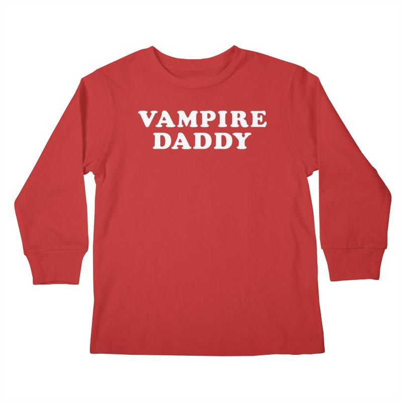 Vampire Daddy (wht) Ishii x Voidmerch Kids Longsleeve T-Shirt by VOID MERCH
