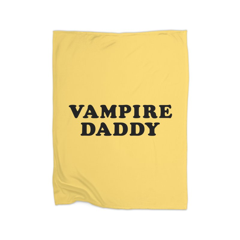 Vampire Daddy (blk) Ishii x Voidmerch Home Fleece Blanket Blanket by VOID MERCH