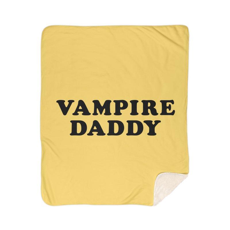 Vampire Daddy (blk) Ishii x Voidmerch Home Sherpa Blanket Blanket by VOID MERCH