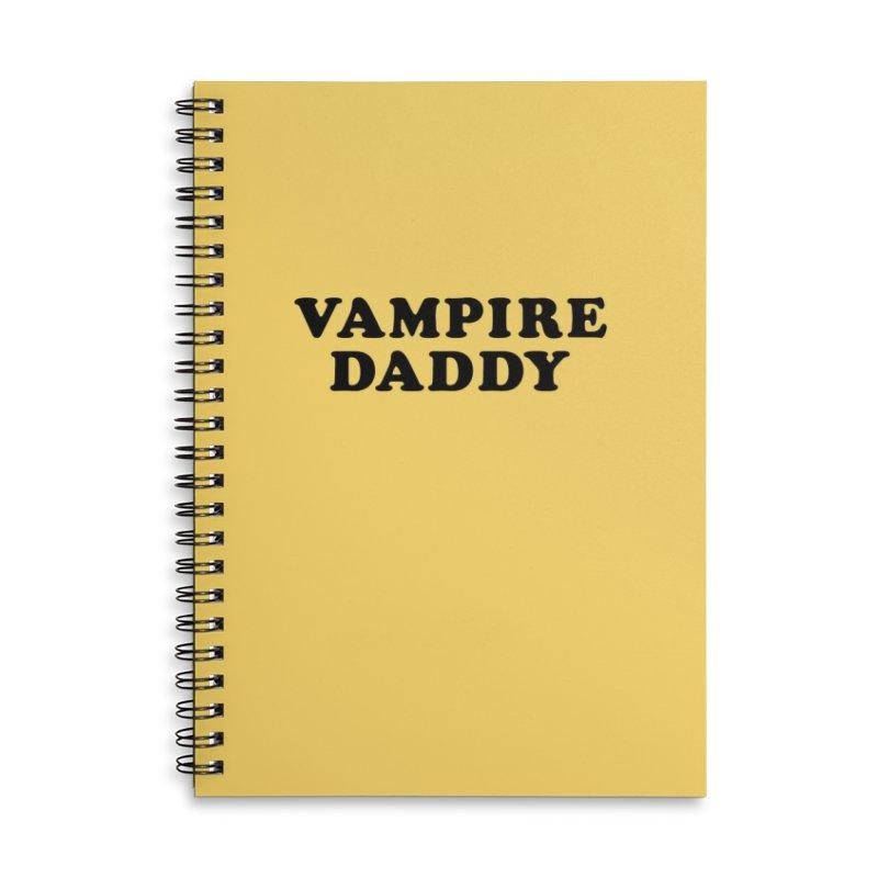 Vampire Daddy (blk) Ishii x Voidmerch Accessories Lined Spiral Notebook by VOID MERCH