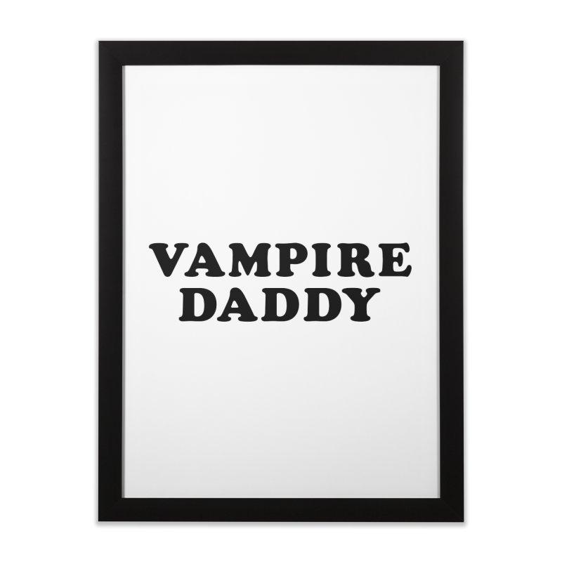 Vampire Daddy (blk) Ishii x Voidmerch Home Framed Fine Art Print by VOID MERCH