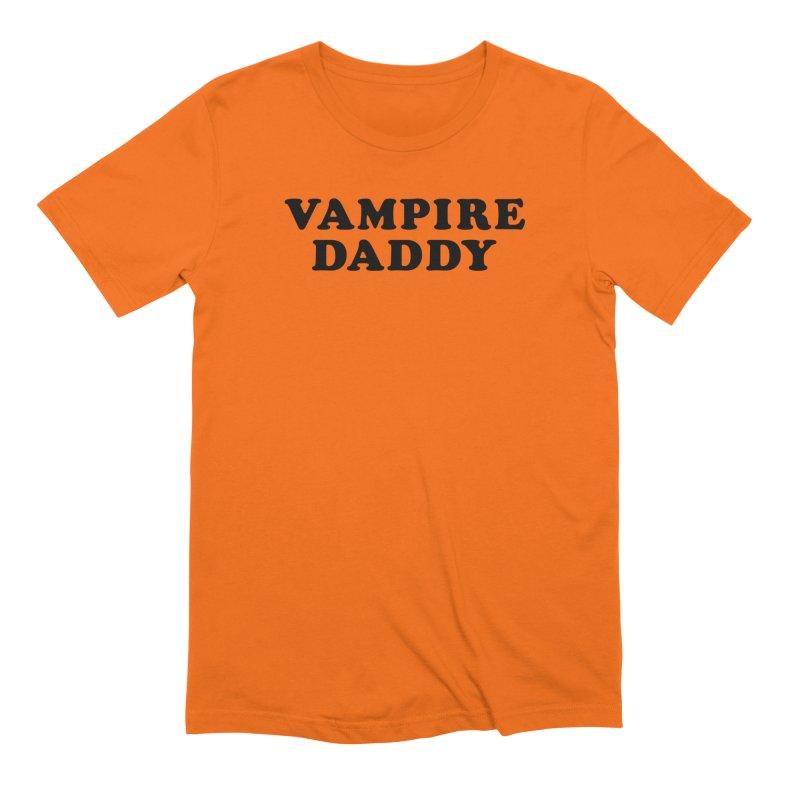 Vampire Daddy (blk) Ishii x Voidmerch in Men's Extra Soft T-Shirt Bright Orange by VOID MERCH