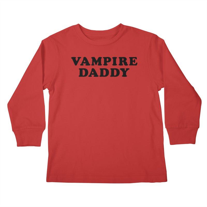 Vampire Daddy (blk) Ishii x Voidmerch Kids Longsleeve T-Shirt by VOID MERCH