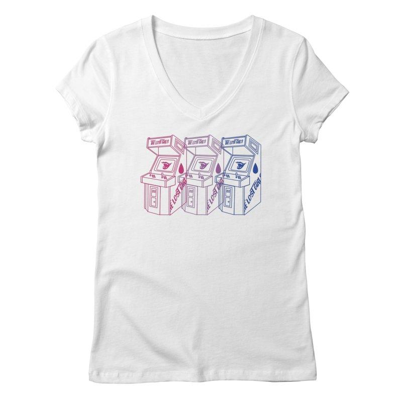 Lost Girls Arcade (BI FLAG RAINBOW) Women's Regular V-Neck by VOID MERCH