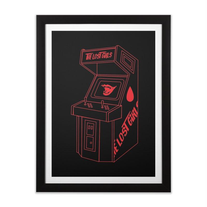 LOST GIRLS ARCADE (red) Lost Girls x Voidmerch Home Framed Fine Art Print by VOID MERCH