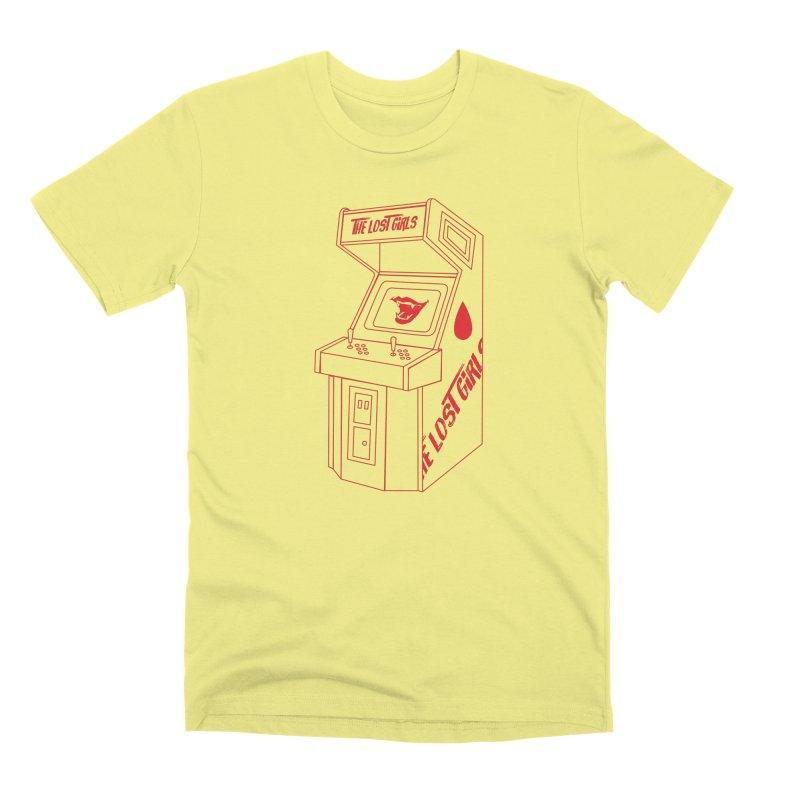 LOST GIRLS ARCADE (red) Lost Girls x Voidmerch in Men's Premium T-Shirt Canary by VOID MERCH