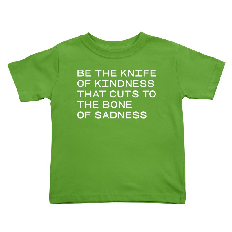 KNIFE OF KINDNESS, BONE OF SADNESS (wht) SANS Kids Toddler T-Shirt by VOID MERCH