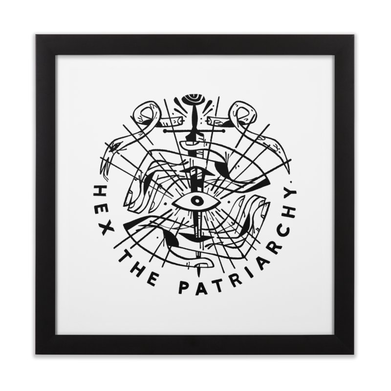 HEX THE PATRIARCHY (blk) PAM WISHBOW x VOIDMERCH Home Framed Fine Art Print by VOID MERCH