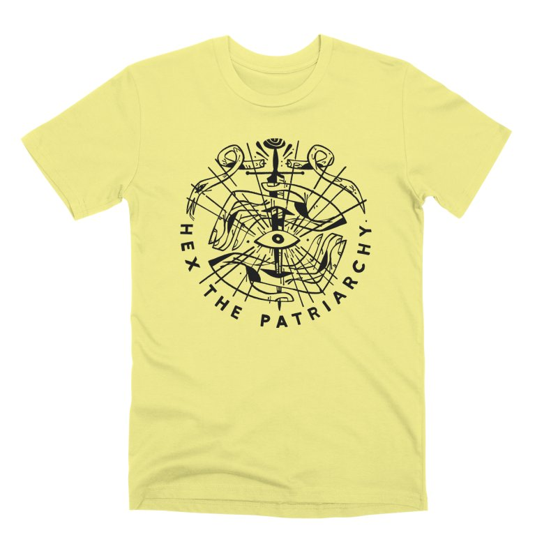 HEX THE PATRIARCHY (blk) PAM WISHBOW x VOIDMERCH in Men's Premium T-Shirt Canary by VOID MERCH