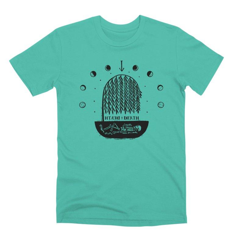 DEATH DEATH (blk) Wishbow x Voidmerch in Men's Premium T-Shirt Sea Green by VOID MERCH