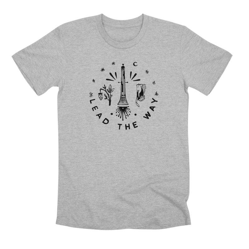 LEAD THE WAY (blk) Wishbow x Voidmerch in Men's Premium T-Shirt Heather Grey by VOID MERCH