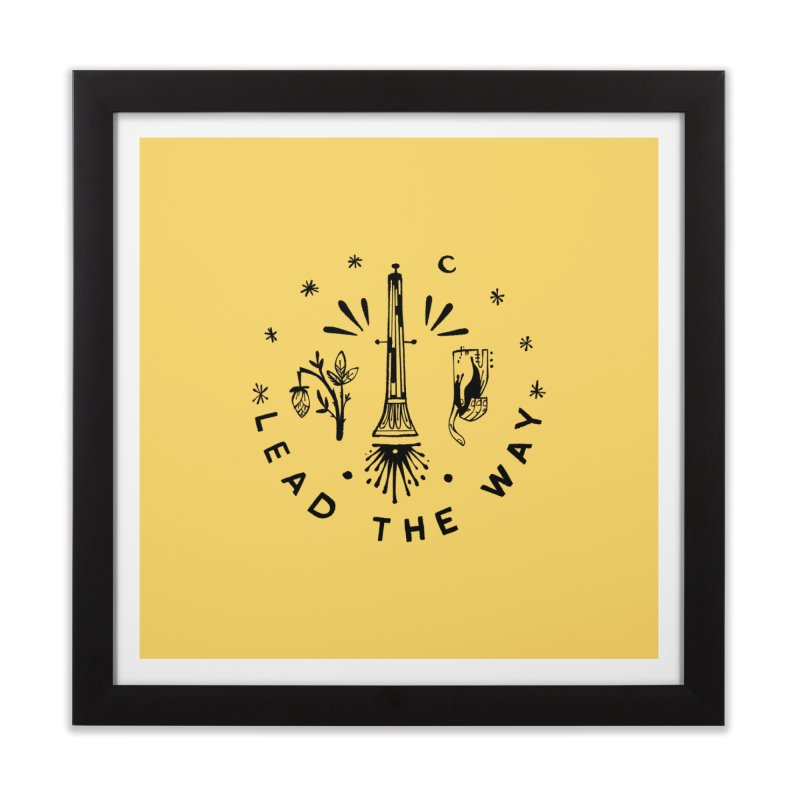 LEAD THE WAY (blk) Wishbow x Voidmerch Home Framed Fine Art Print by VOID MERCH