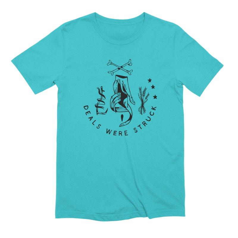 DEALS WERE STRUCK (blk) Wishbow x Voidmerch Men's Extra Soft T-Shirt by VOID MERCH