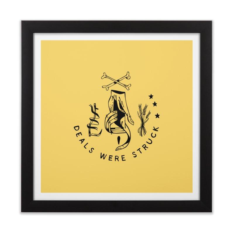 DEALS WERE STRUCK (blk) Wishbow x Voidmerch Home Framed Fine Art Print by VOID MERCH