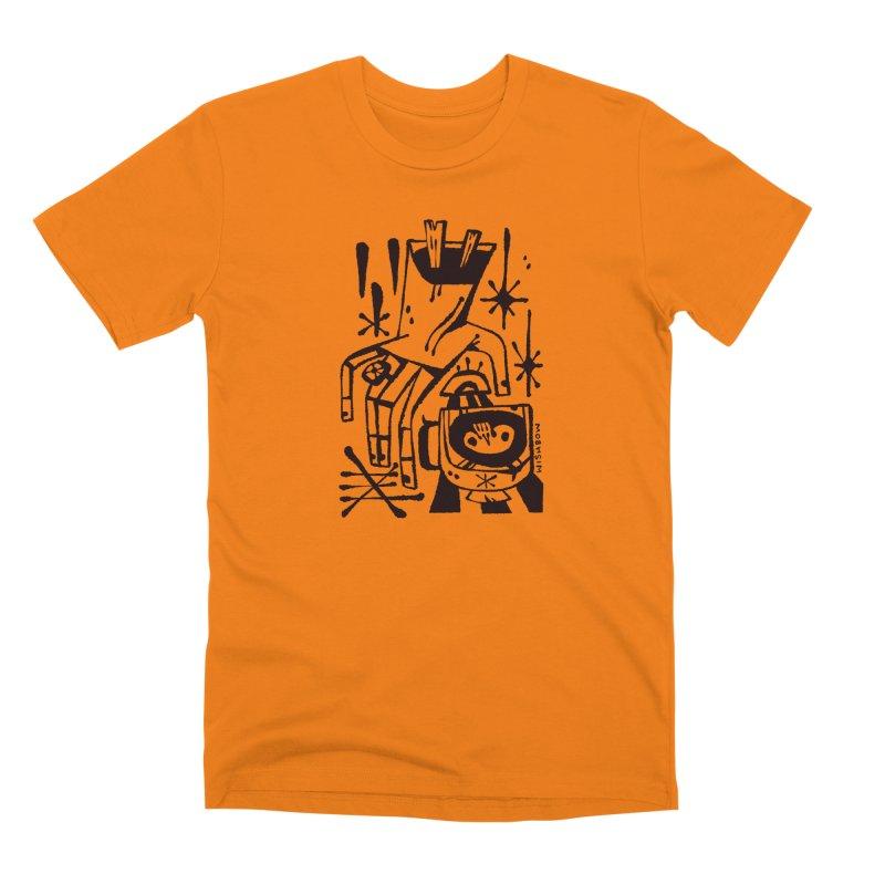 MORNING BREW (blk) Wishbow x Voidmerch Men's Premium T-Shirt by VOID MERCH