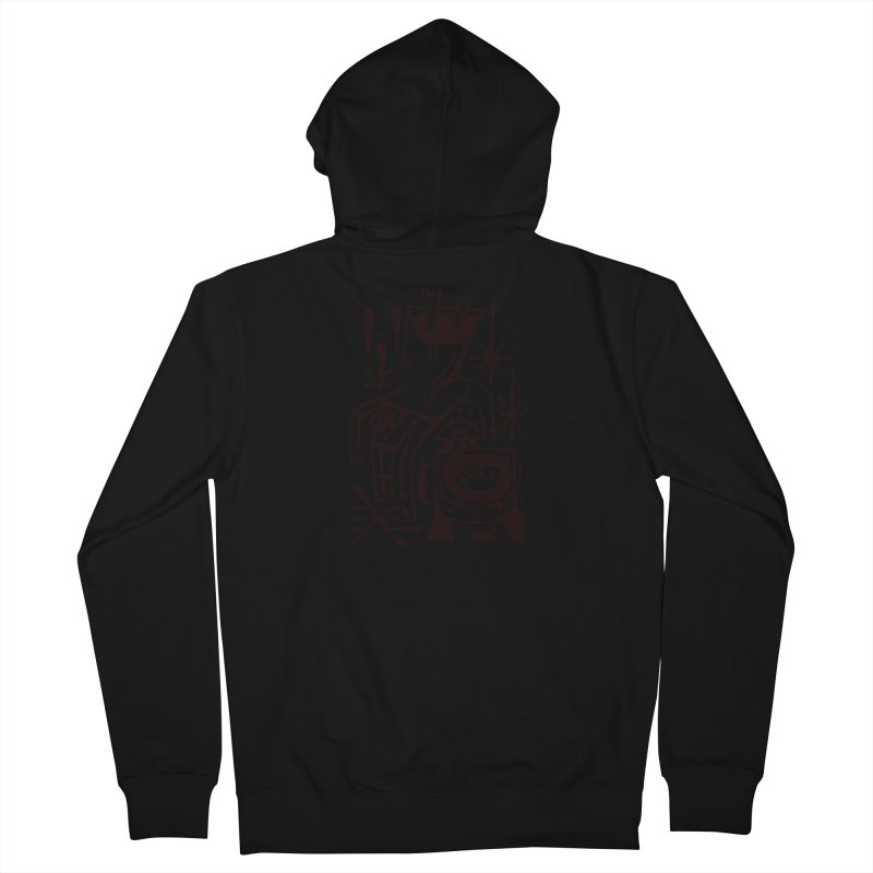 MORNING BREW (blk) Wishbow x Voidmerch Women's French Terry Zip-Up Hoody by VOID MERCH