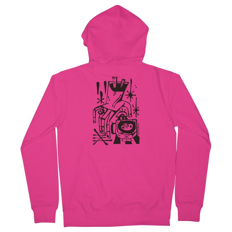 MORNING BREW (blk) Wishbow x Voidmerch Men's French Terry Zip-Up Hoody by VOID MERCH