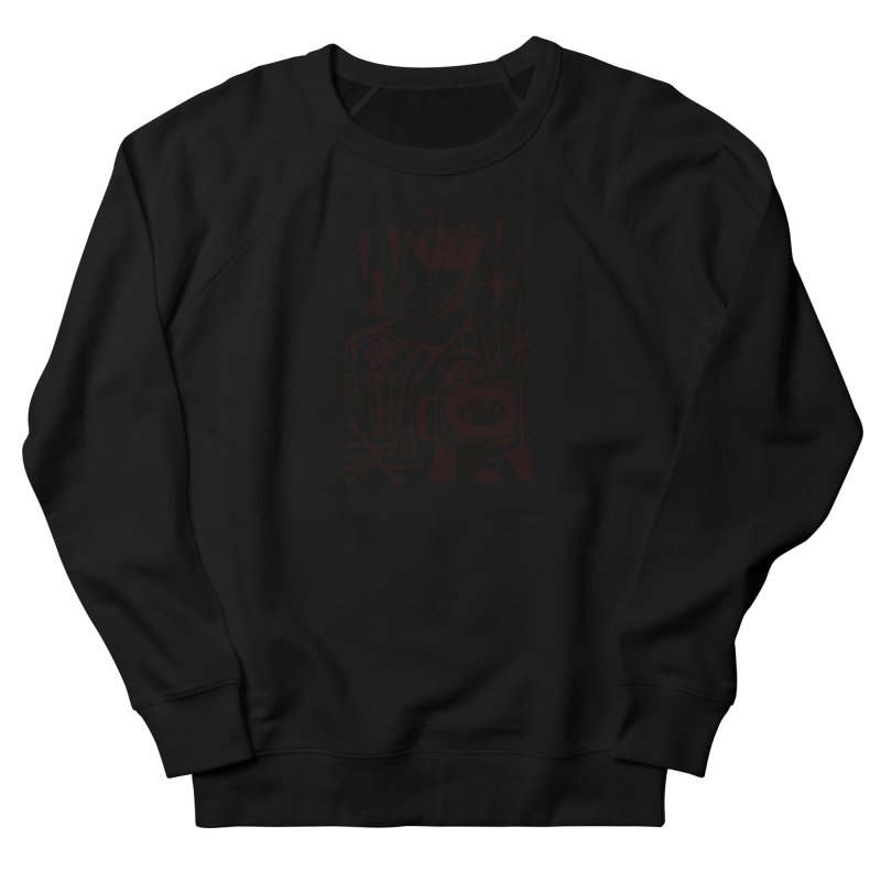 MORNING BREW (blk) Wishbow x Voidmerch Women's French Terry Sweatshirt by VOID MERCH