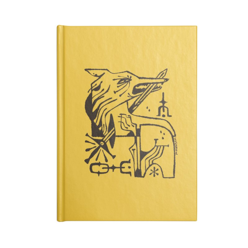 SWORD WOLF (blk) Wishbow x Voidmerch Accessories Blank Journal Notebook by VOID MERCH