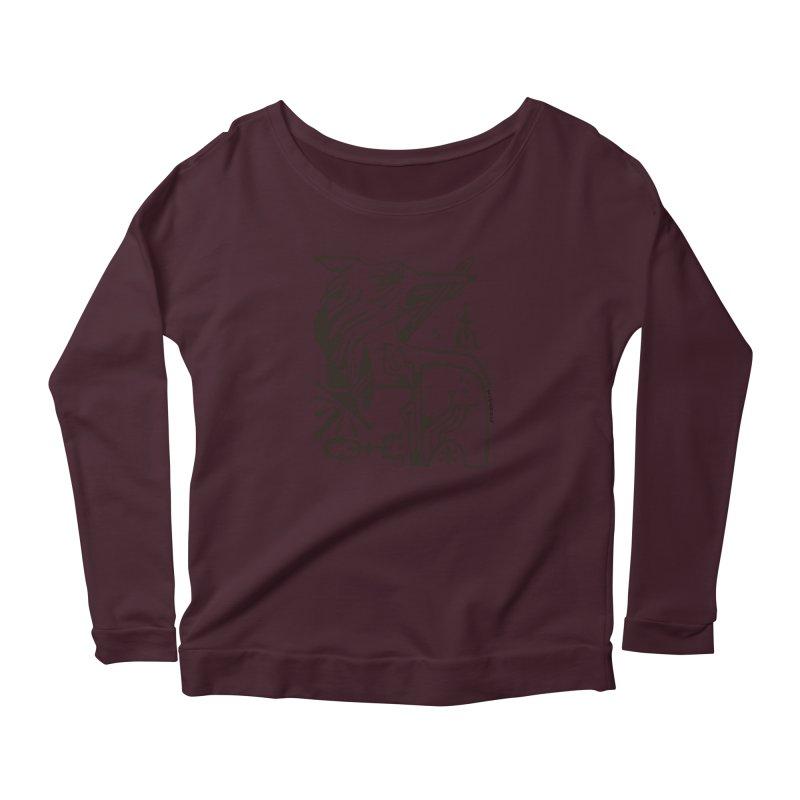 SWORD WOLF (blk) Wishbow x Voidmerch Women's Longsleeve T-Shirt by VOID MERCH