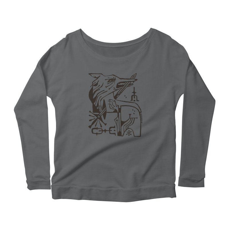 SWORD WOLF (blk) Wishbow x Voidmerch Women's Longsleeve T-Shirt by VOID MERCH