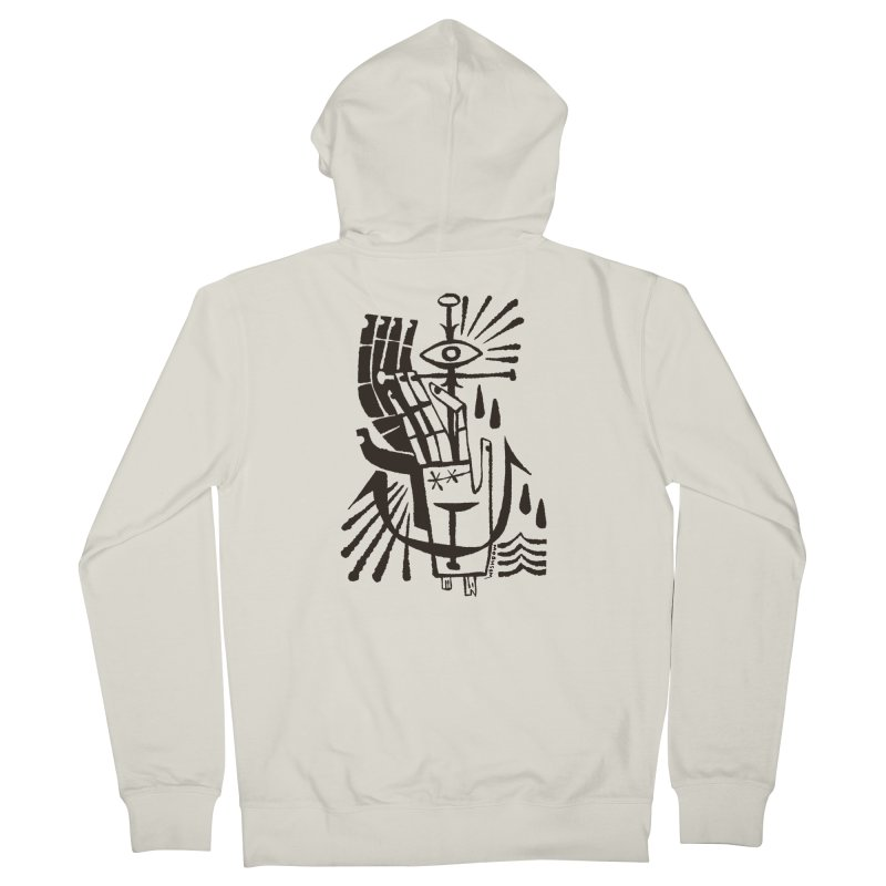 ANCHOR (blk) Wishbow x Voidmerch Women's French Terry Zip-Up Hoody by VOID MERCH