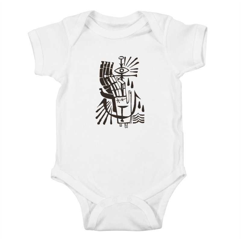 ANCHOR (blk) Wishbow x Voidmerch Kids Baby Bodysuit by VOID MERCH