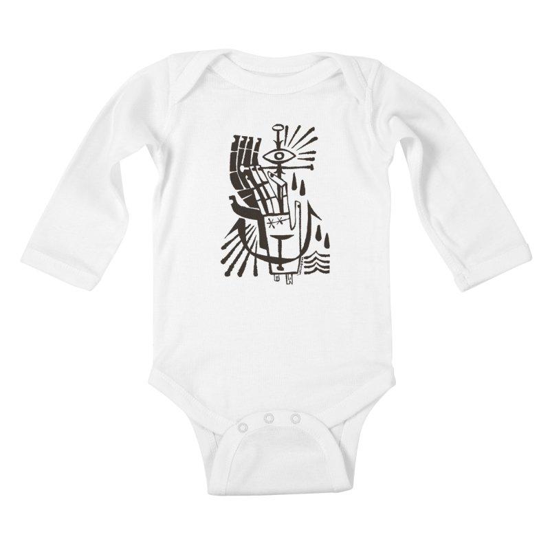 ANCHOR (blk) Wishbow x Voidmerch Kids Baby Longsleeve Bodysuit by VOID MERCH