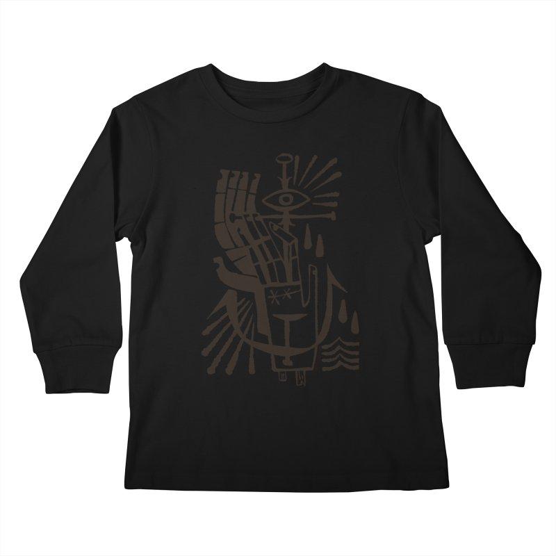 ANCHOR (blk) Wishbow x Voidmerch Kids Longsleeve T-Shirt by VOID MERCH