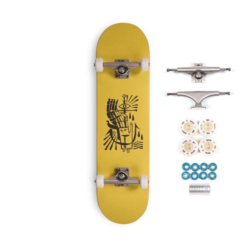 ANCHOR (blk) Wishbow x Voidmerch Accessories Complete - Premium Skateboard by VOID MERCH