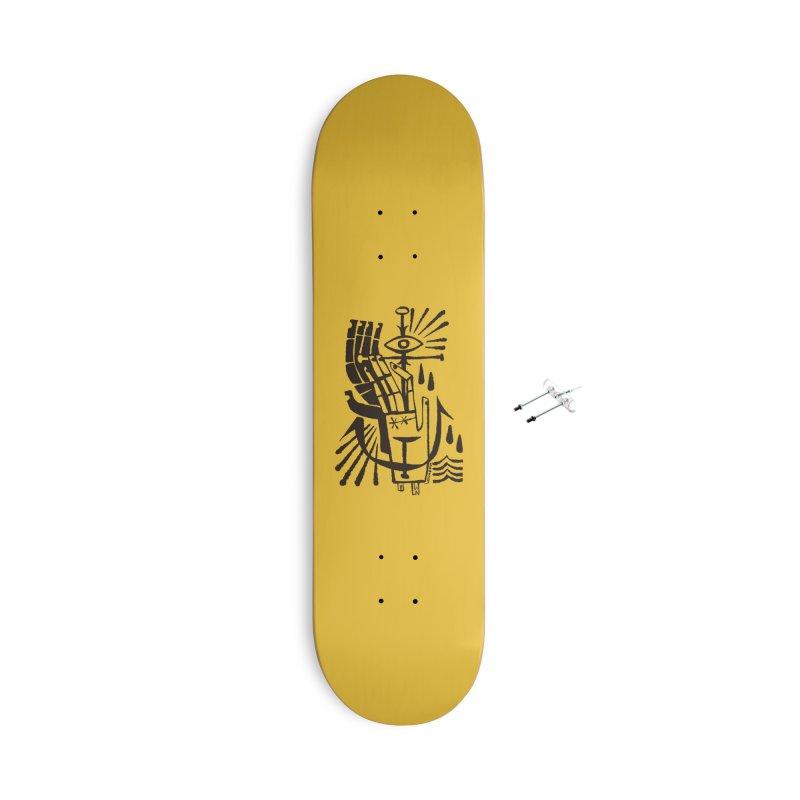ANCHOR (blk) Wishbow x Voidmerch Accessories With Hanging Hardware Skateboard by VOID MERCH