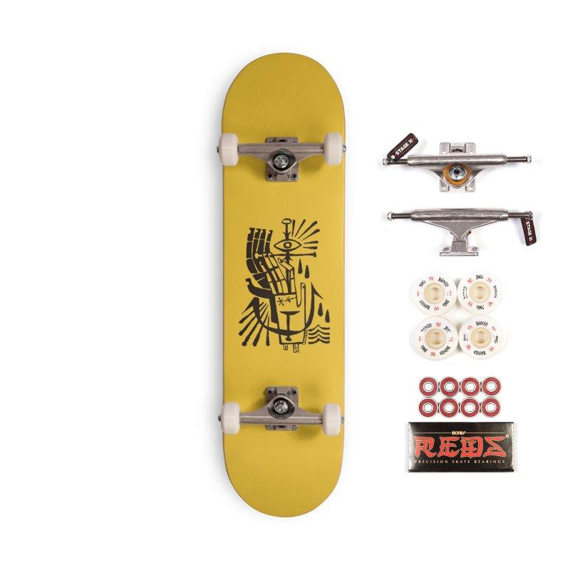 ANCHOR (blk) Wishbow x Voidmerch Accessories Complete - Pro Skateboard by VOID MERCH