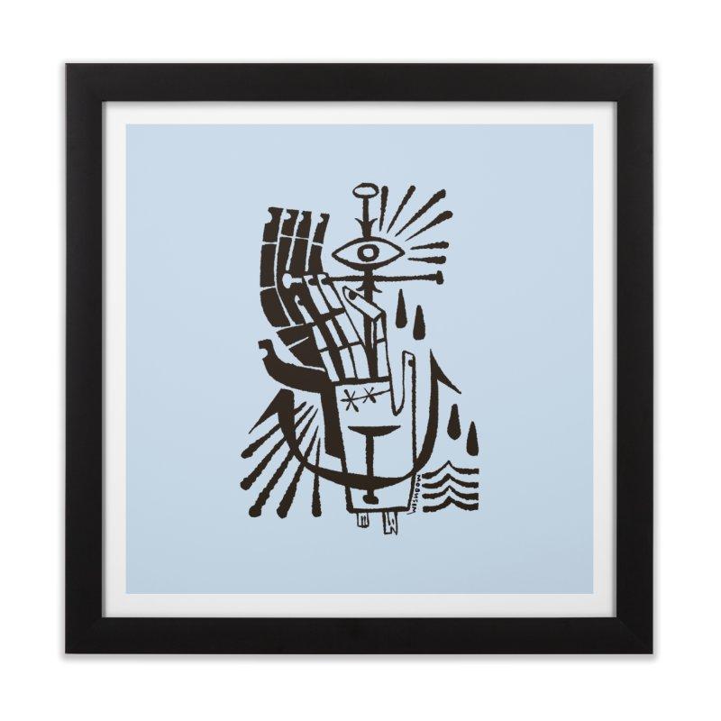 ANCHOR (blk) Wishbow x Voidmerch Home Framed Fine Art Print by VOID MERCH