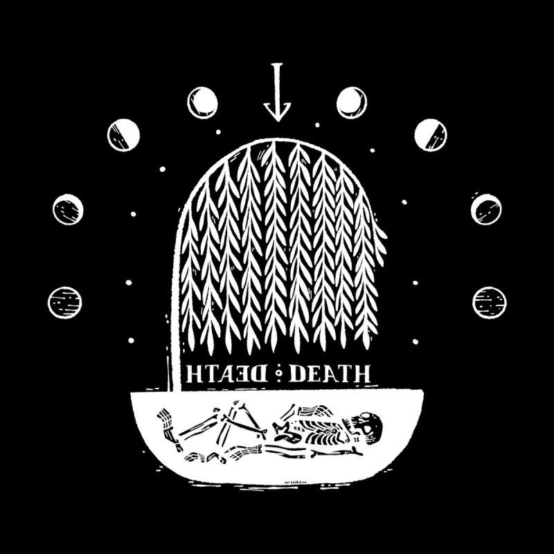 DEATH DEATH (wht) Wishbow x Voidmerch Women's Longsleeve T-Shirt by VOID MERCH