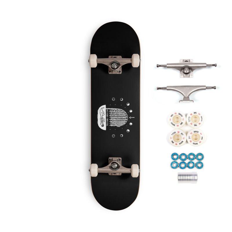 DEATH DEATH (wht) Wishbow x Voidmerch Accessories Complete - Premium Skateboard by VOID MERCH