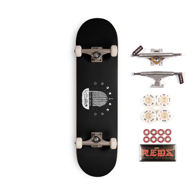 DEATH DEATH (wht) Wishbow x Voidmerch Accessories Complete - Pro Skateboard by VOID MERCH