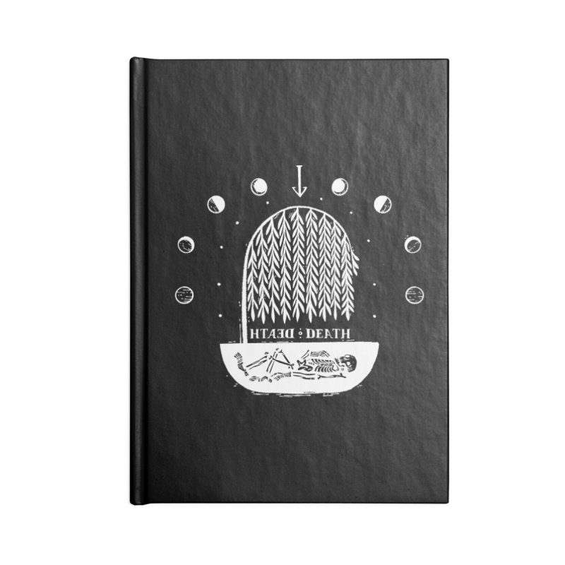 DEATH DEATH (wht) Wishbow x Voidmerch Accessories Blank Journal Notebook by VOID MERCH