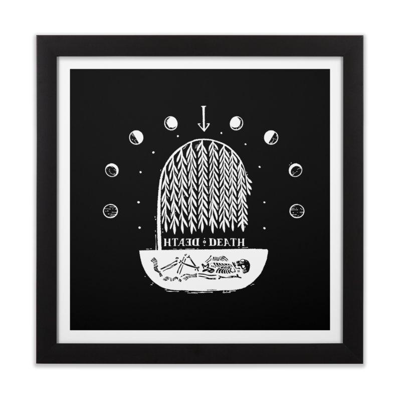 DEATH DEATH (wht) Wishbow x Voidmerch Home Framed Fine Art Print by VOID MERCH