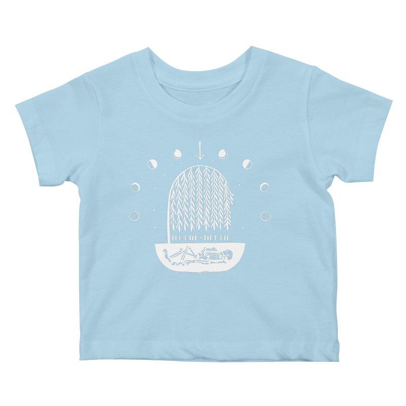DEATH DEATH (wht) Wishbow x Voidmerch Kids Baby T-Shirt by VOID MERCH