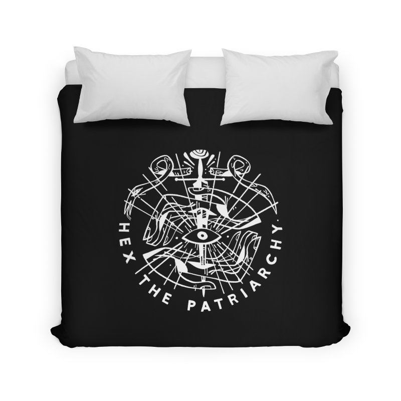 HEX THE PATRIARCHY (wht) Wishbow x Voidmerch Home Duvet by VOID MERCH