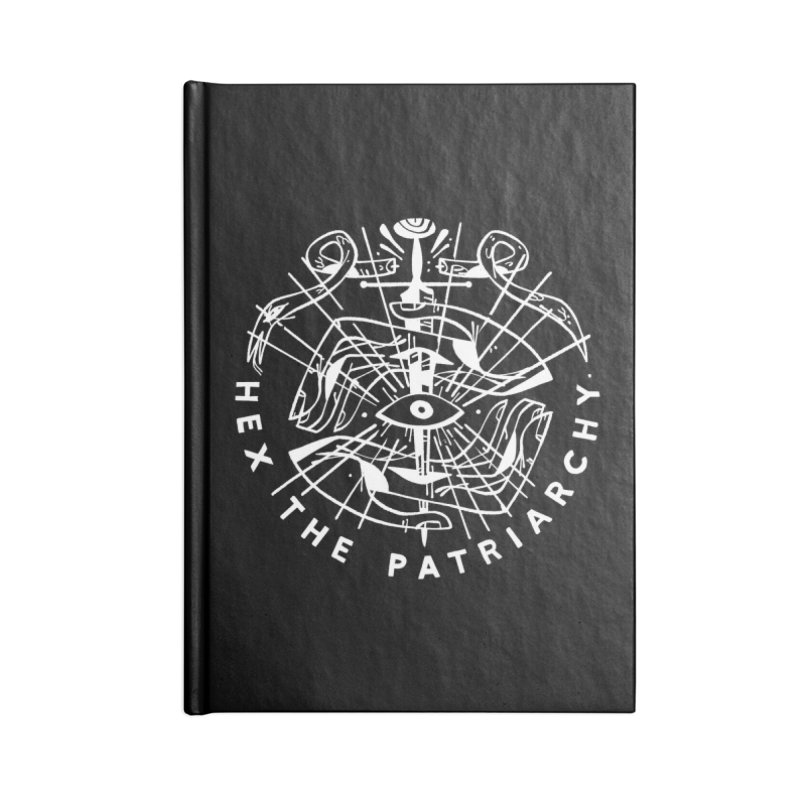 HEX THE PATRIARCHY (wht) Wishbow x Voidmerch Accessories Lined Journal Notebook by VOID MERCH