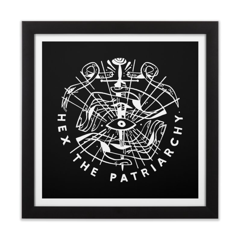 HEX THE PATRIARCHY (wht) Wishbow x Voidmerch Home Framed Fine Art Print by VOID MERCH
