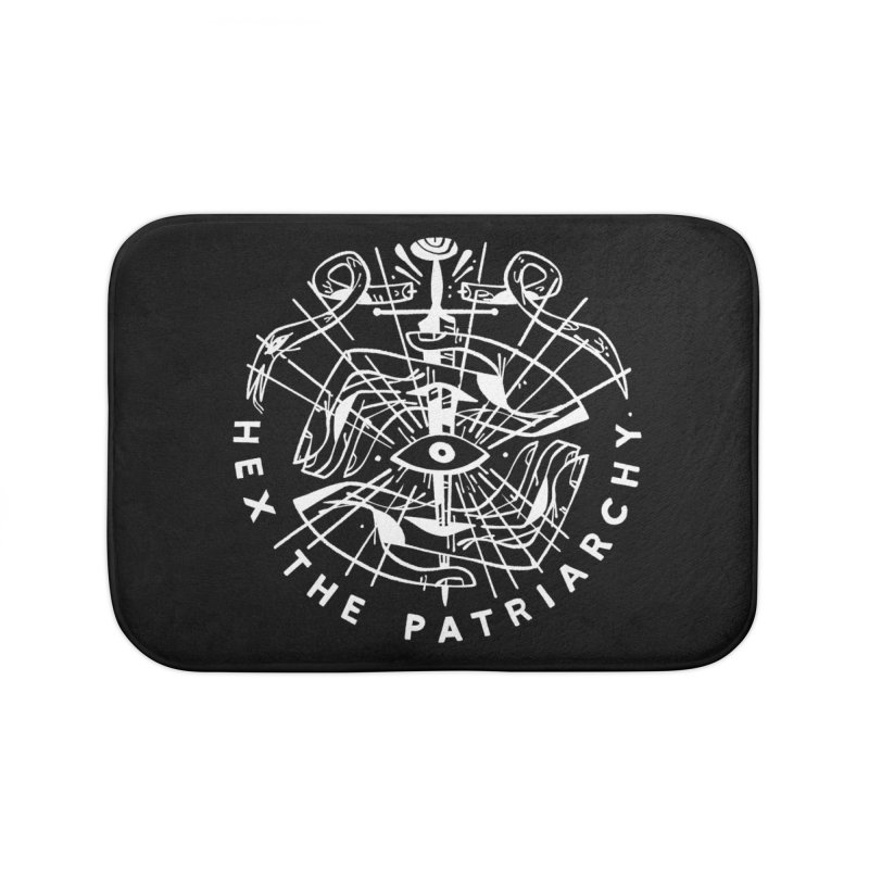 HEX THE PATRIARCHY (wht) Wishbow x Voidmerch Home Bath Mat by VOID MERCH