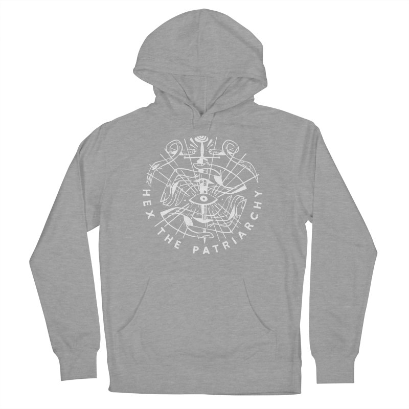 HEX THE PATRIARCHY (wht) Wishbow x Voidmerch Men's French Terry Pullover Hoody by VOID MERCH