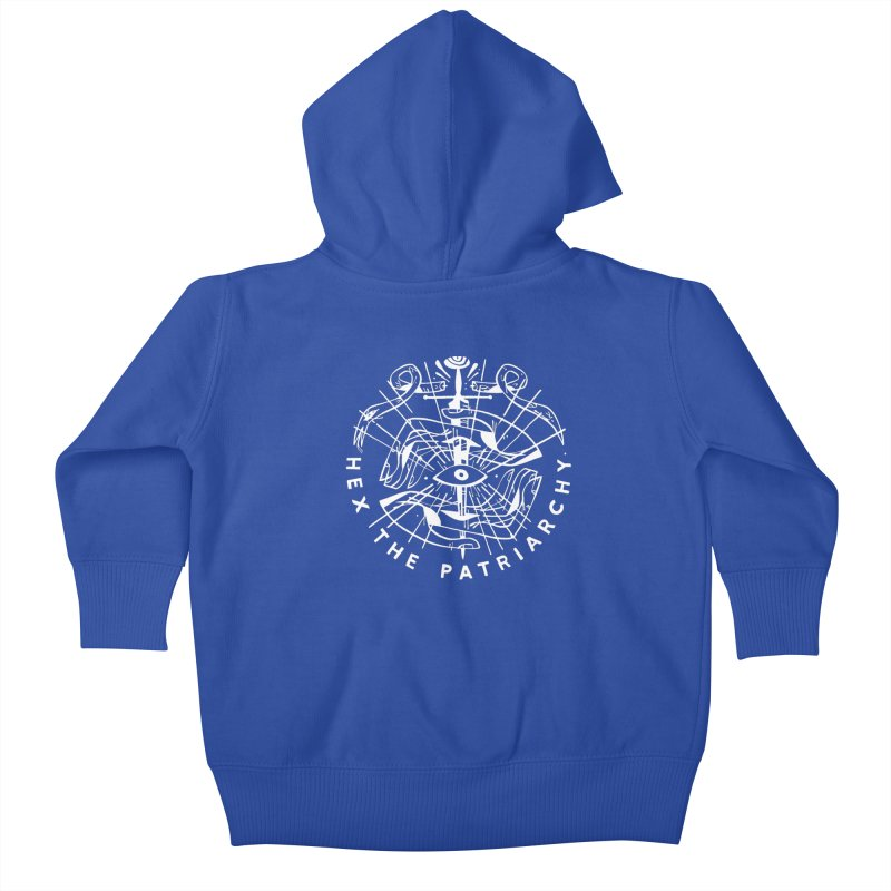 HEX THE PATRIARCHY (wht) Wishbow x Voidmerch Kids Baby Zip-Up Hoody by VOID MERCH