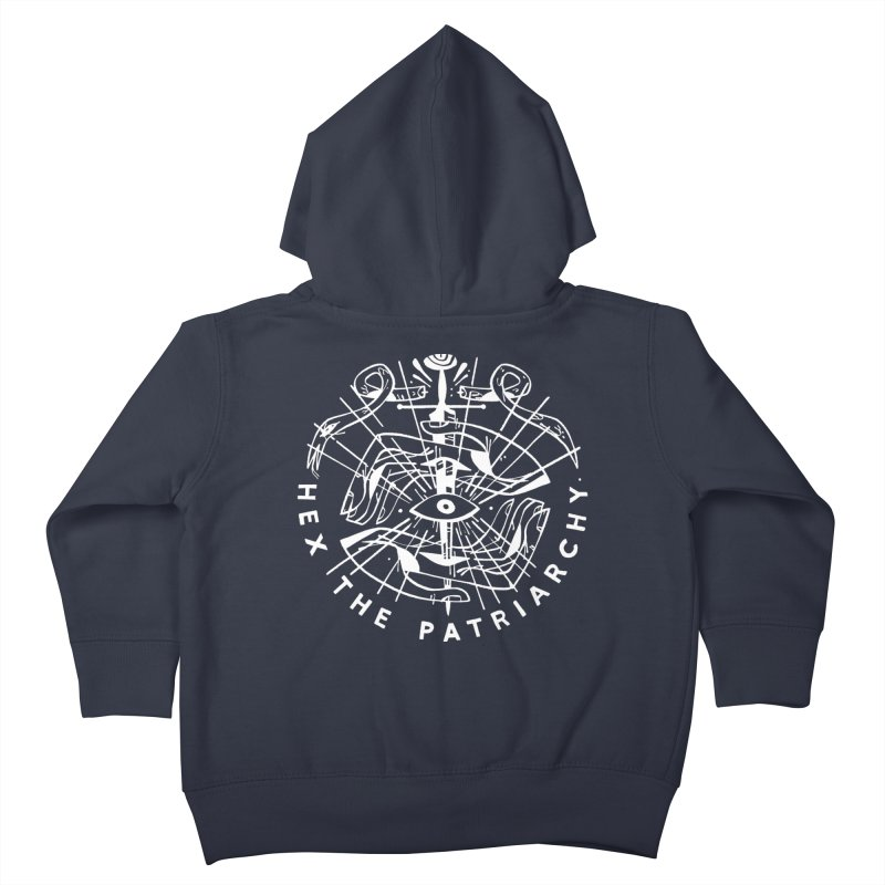 HEX THE PATRIARCHY (wht) Wishbow x Voidmerch Kids Toddler Zip-Up Hoody by VOID MERCH