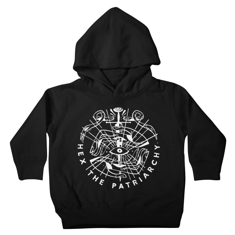 HEX THE PATRIARCHY (wht) Wishbow x Voidmerch Kids Toddler Pullover Hoody by VOID MERCH