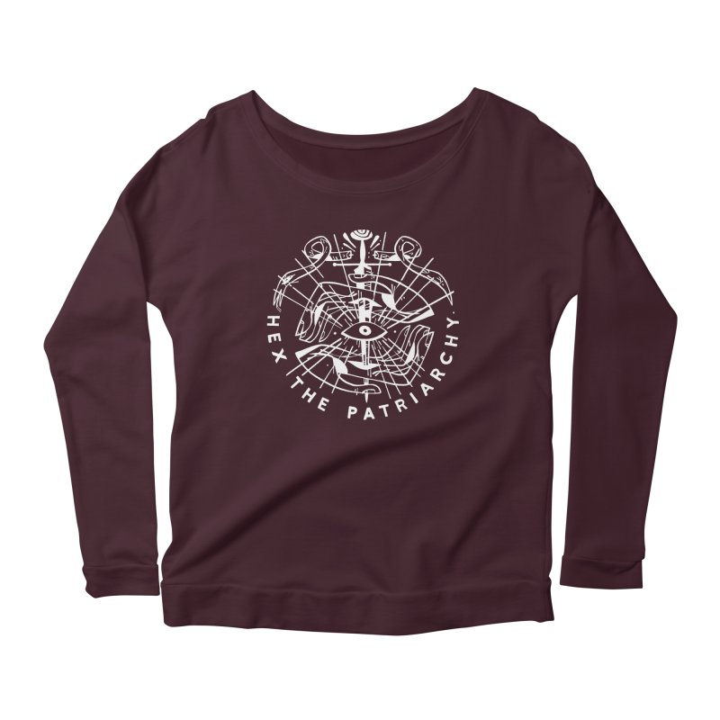 HEX THE PATRIARCHY (wht) Wishbow x Voidmerch Women's Longsleeve T-Shirt by VOID MERCH